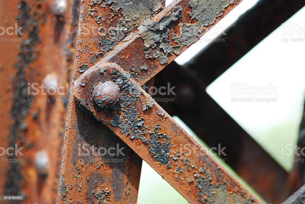 old rusted steel - rusty metal texture / rust texture stock photo