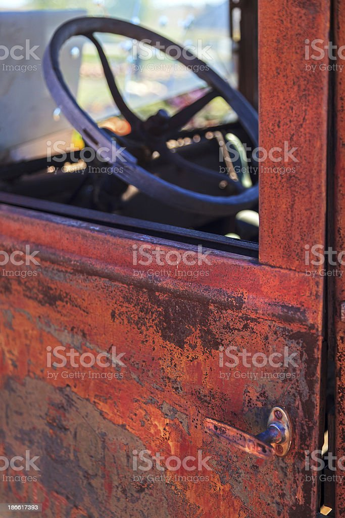 Old rusted truck stock photo