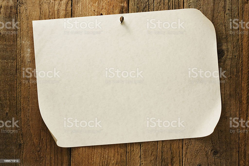 Old rustic aged wanted cowboy poster on parchment royalty-free stock photo