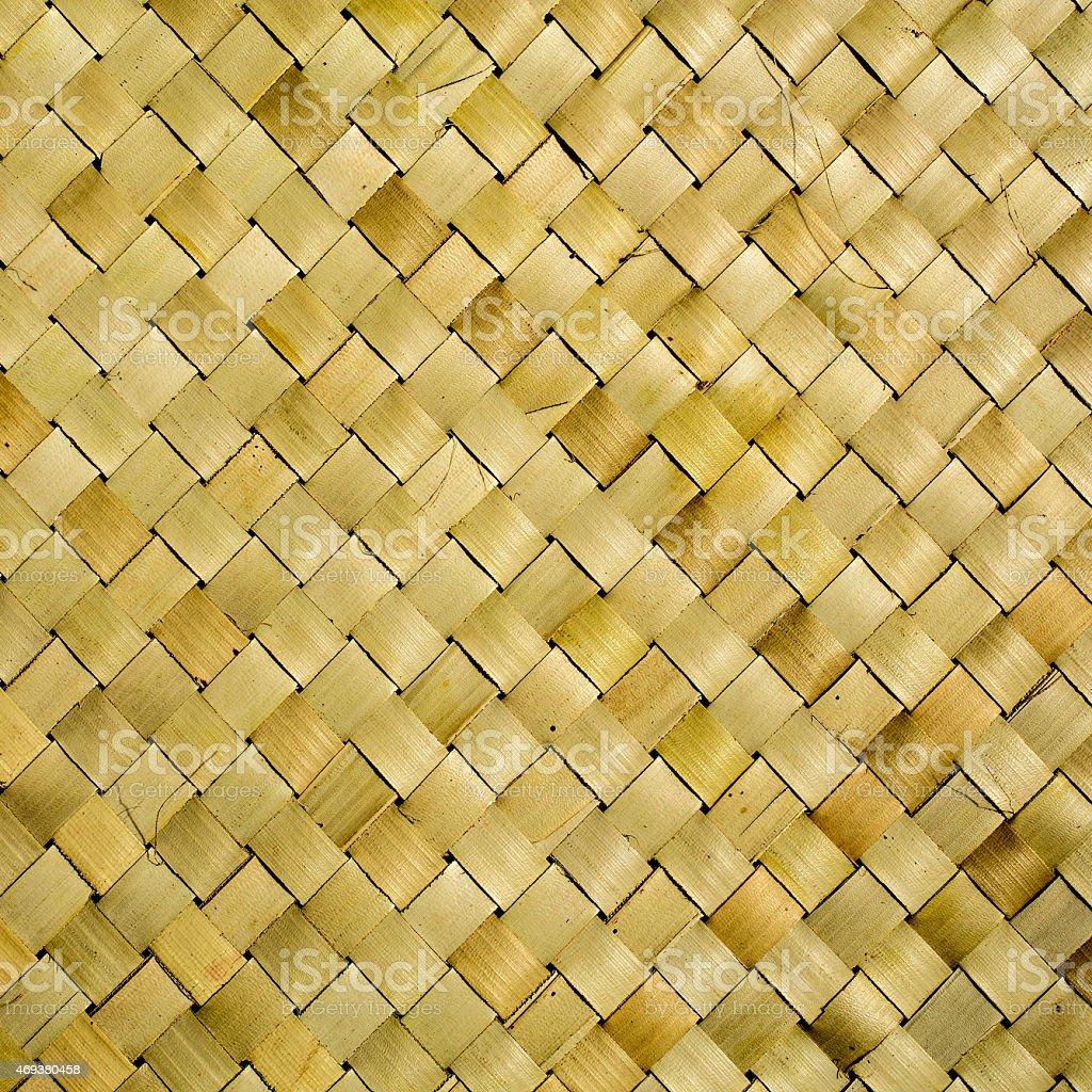 Alte Rustikale Bambusmatte Textur Hintergrund Makro Stockfoto Und
