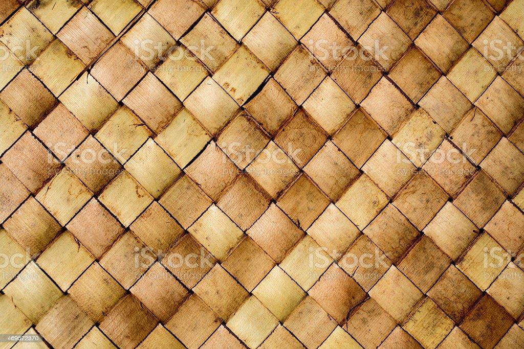 Alte Rustikale Bambusmatte Textur Hintergrund Makro Stock Fotografie