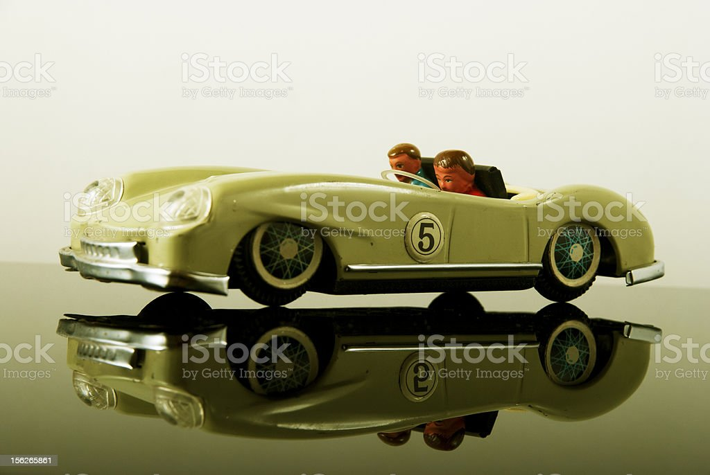 Old rustic car toy stock photo