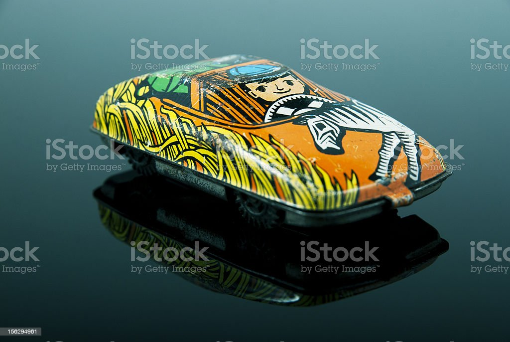 Old rustic car toy royalty-free stock photo