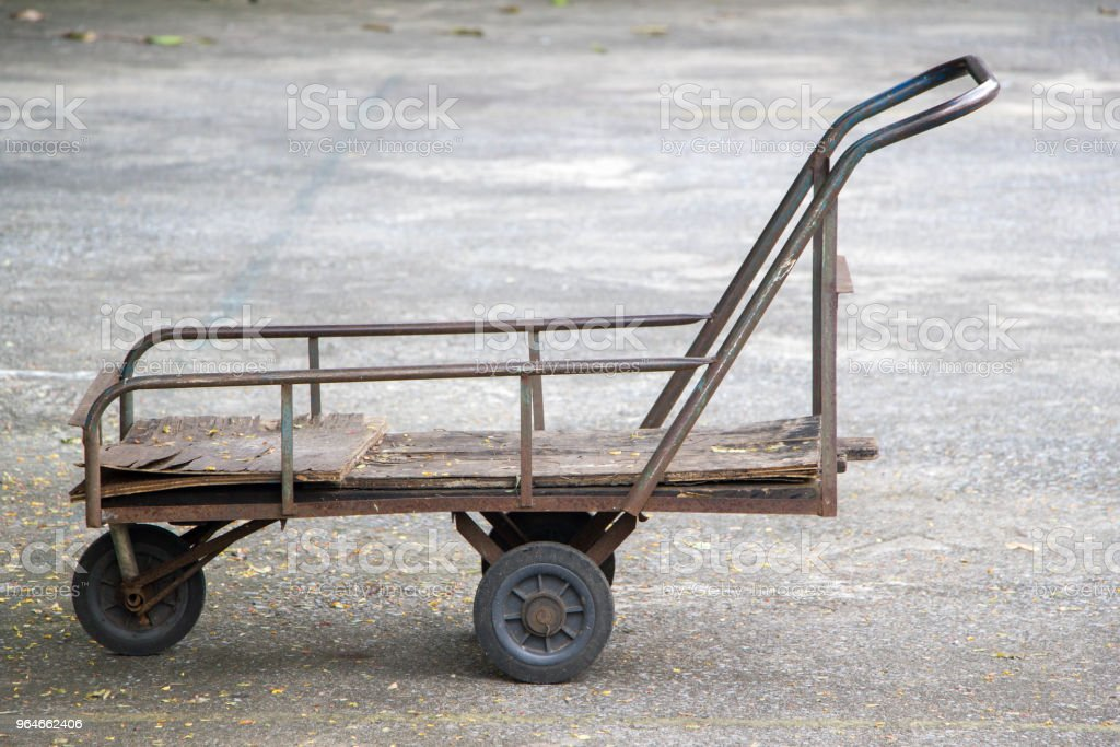 old rustic cart royalty-free stock photo