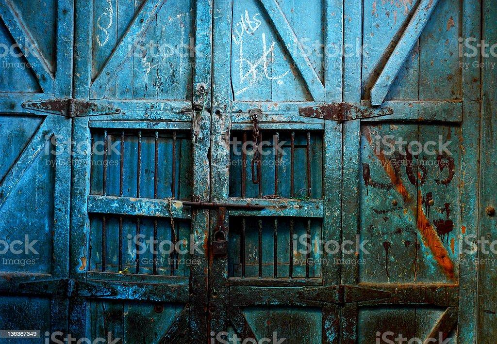 Old Rustic Door stock photo