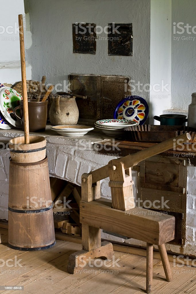 Old Rustic Kitchen Interior royalty-free stock photo