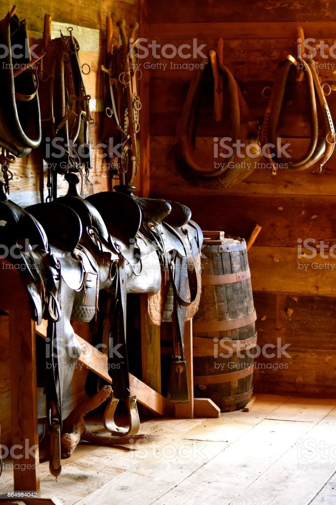 Antiguo guadarnés rústico - foto de stock