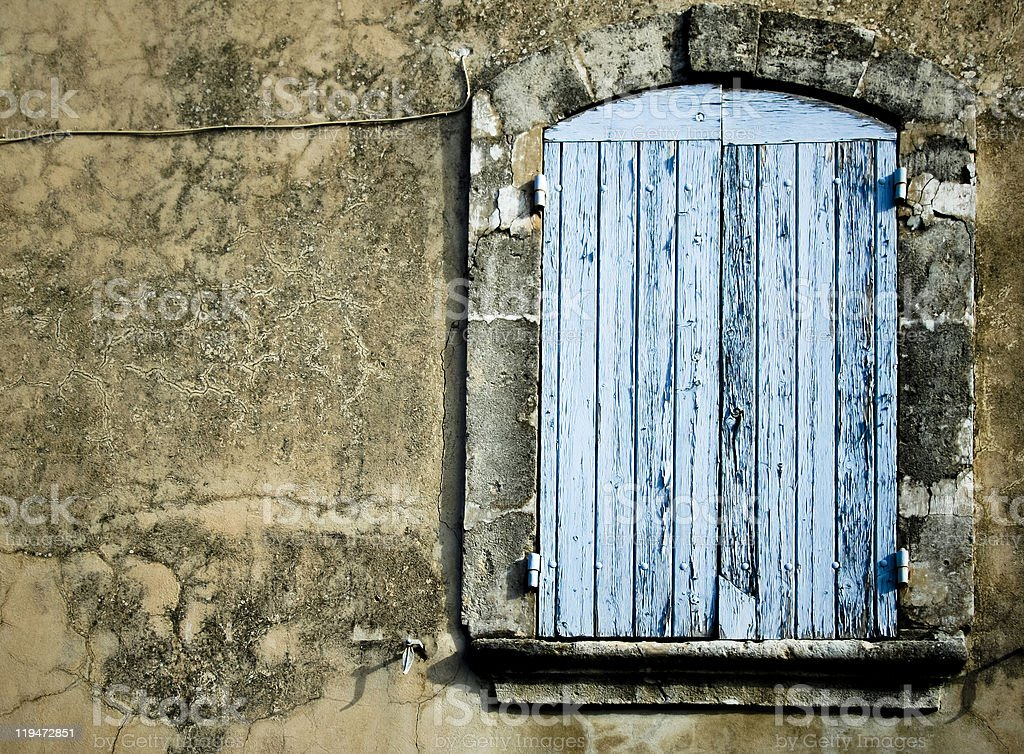 old rustic window background france royalty-free stock photo