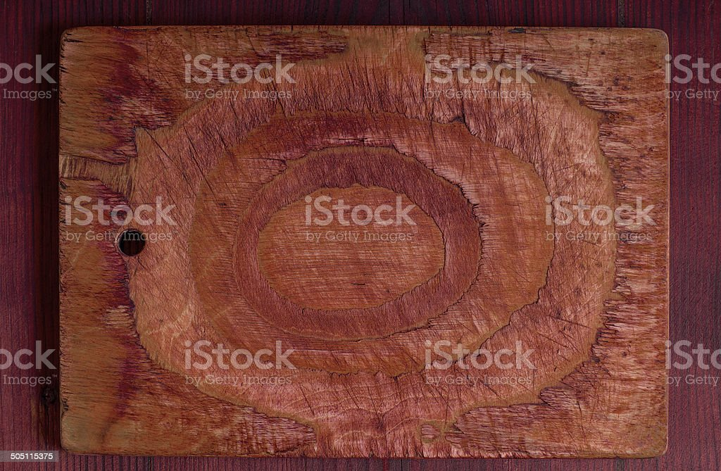 Old rustic wooden kitchen board royalty-free stock photo