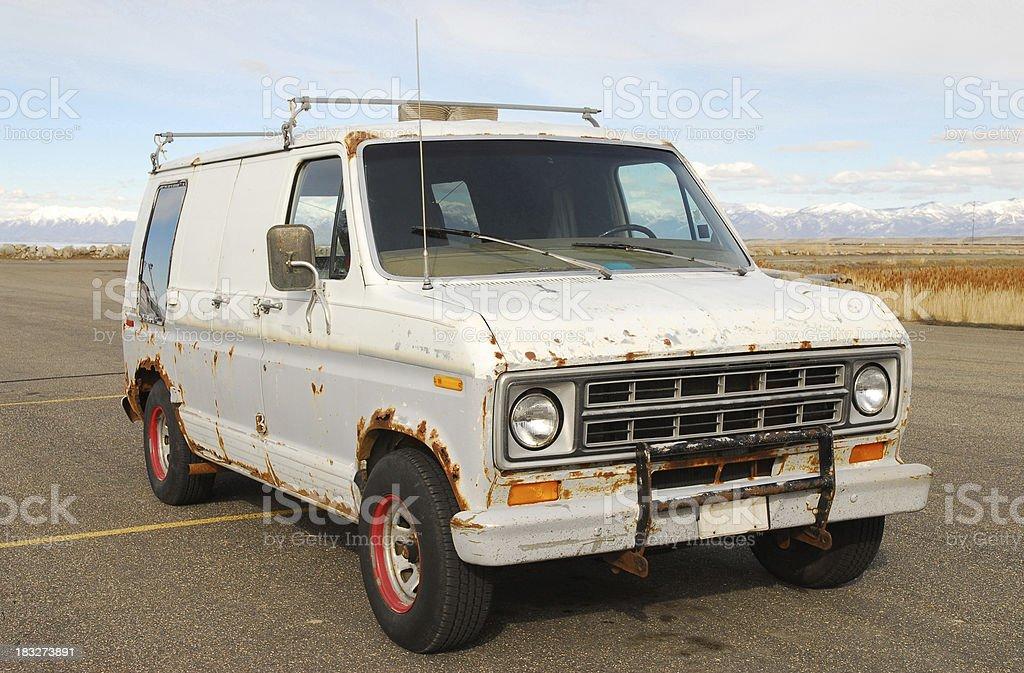Old rusting work van royalty-free stock photo