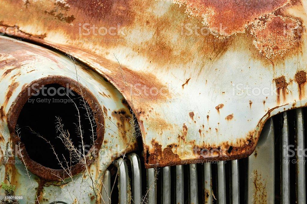Old rusty australian car, lamp royalty-free stock photo