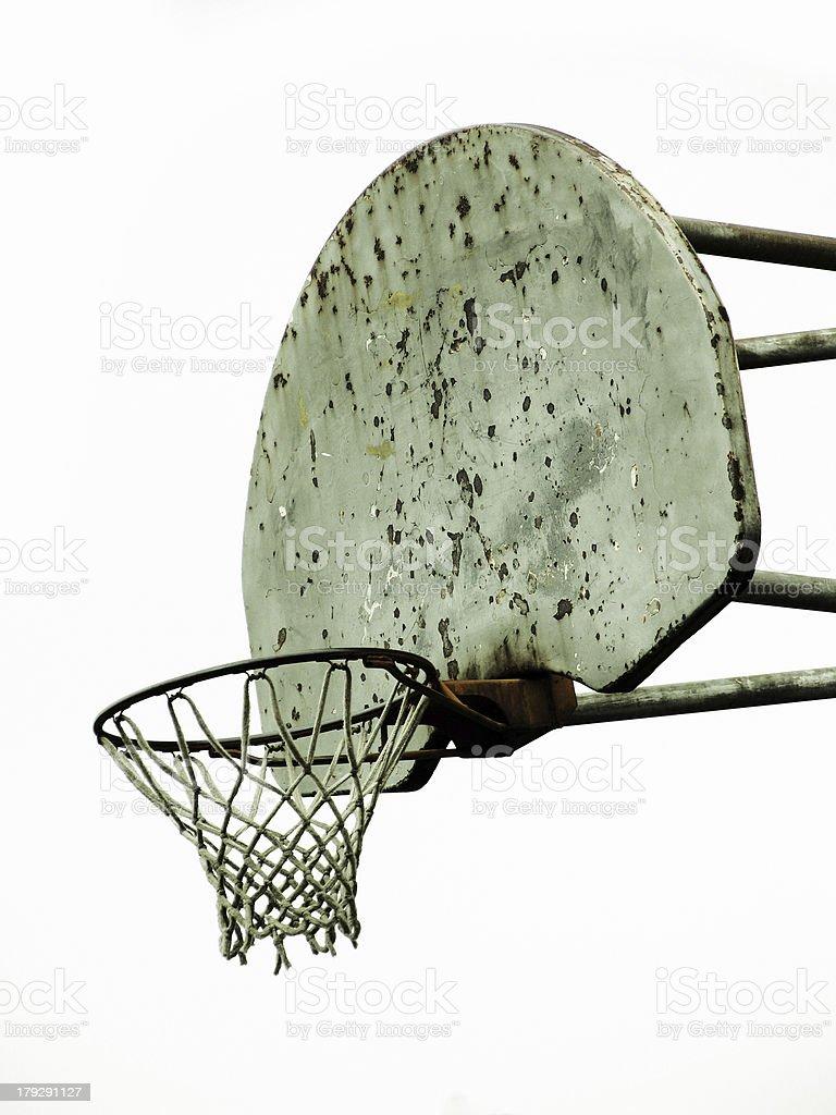 Old Rusty Basketball Hoop royalty-free stock photo