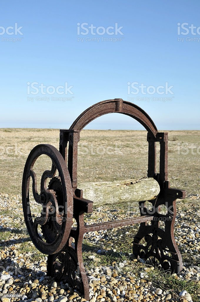 Old Rusty Boat Winch royalty-free stock photo