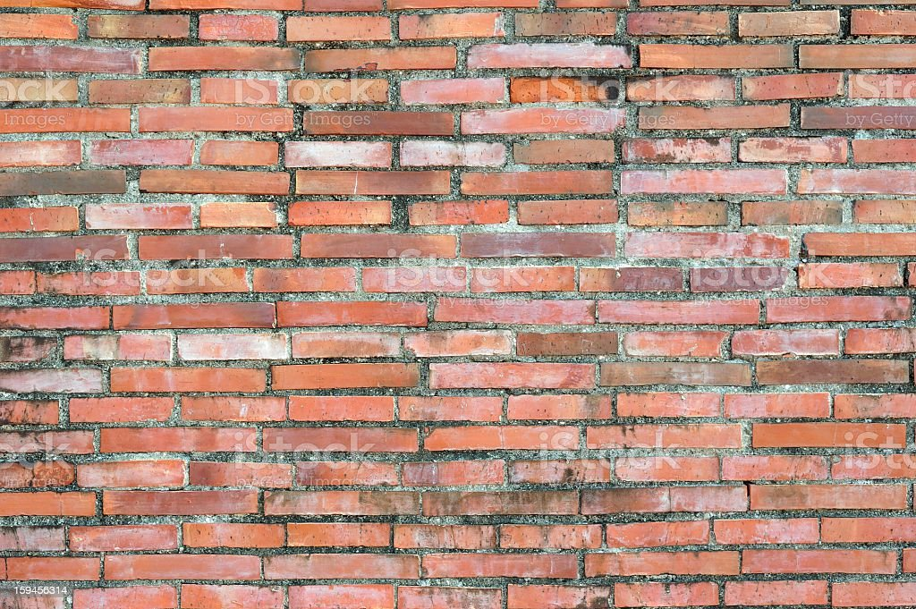 Old Rusty Brick Wall royalty-free stock photo