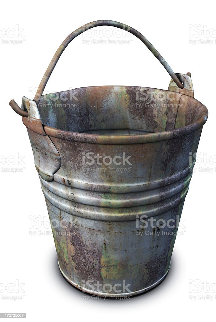 Old Rusty Bucket royalty-free stock photo
