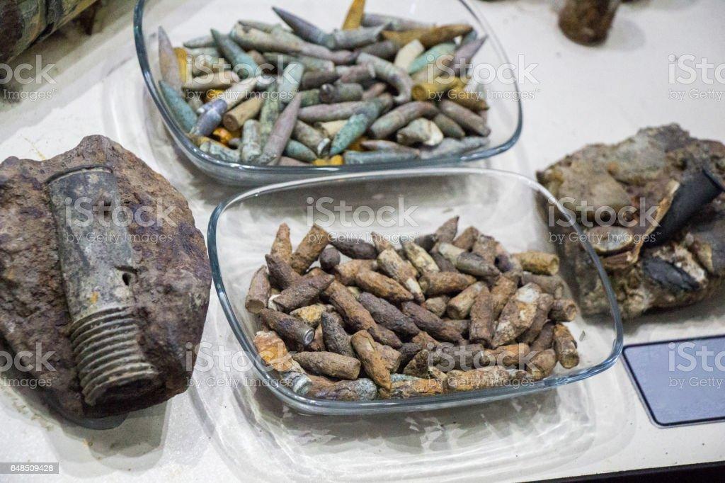 Anciennes munitions balle rouillée - Photo
