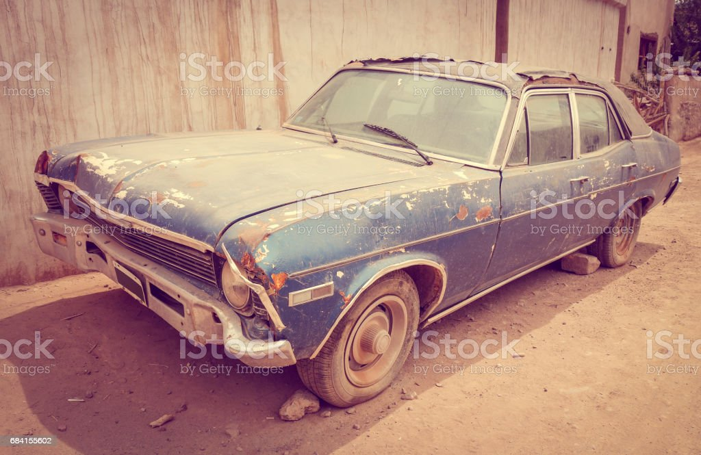 Old rusty car stock photo