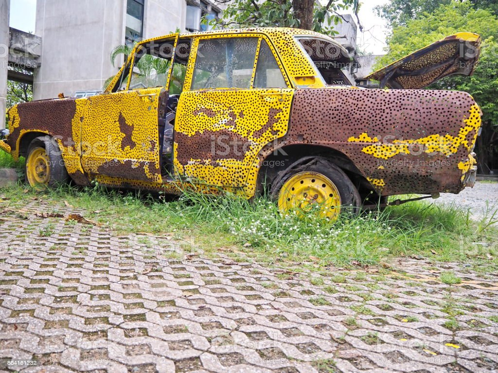 Old rusty car royalty-free stock photo