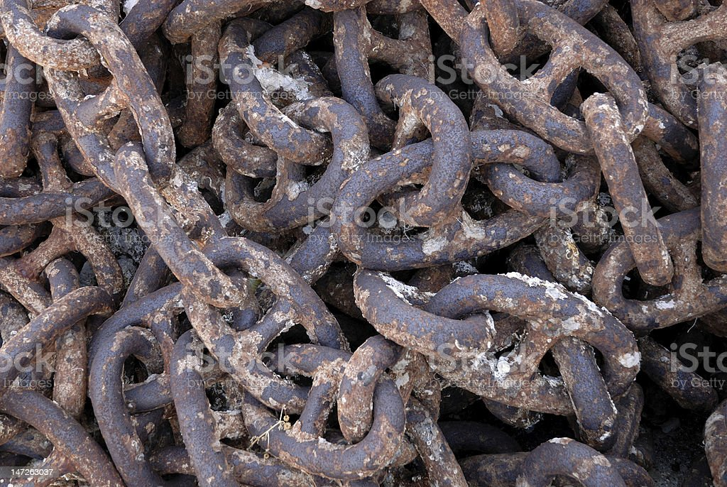 Old rusty chain royalty-free stock photo