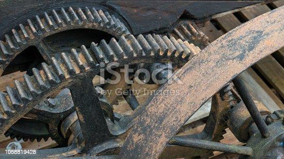 Old, rusty cog-wheel