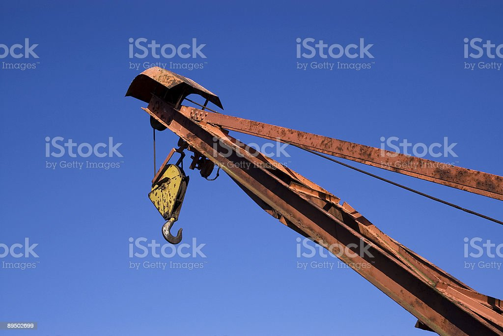 Old rusty crane royalty-free stock photo