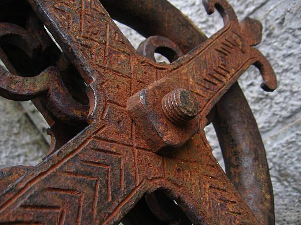 Old rusty cross stock photo