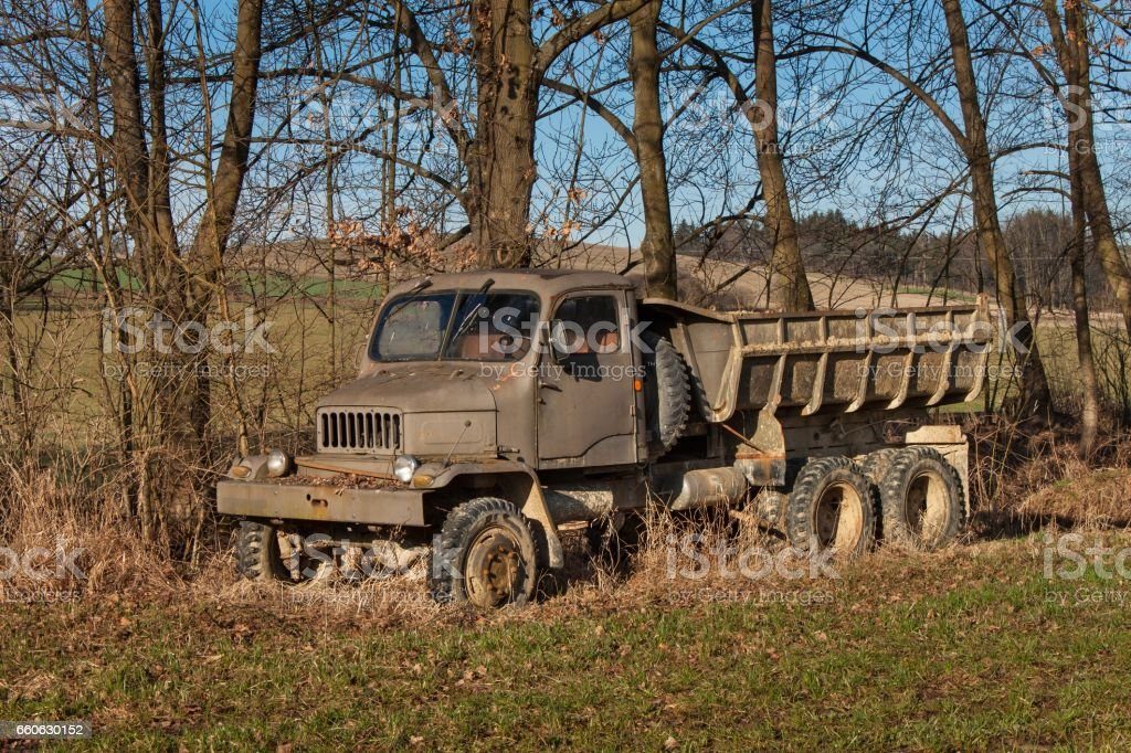Old Rusty Czech Military Truck Abandoned Rusty Car Stock Photo ...