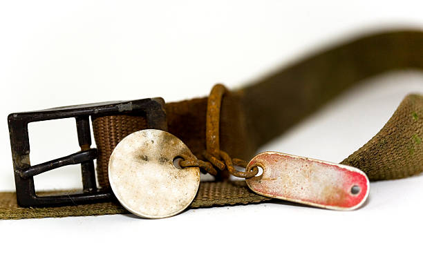 old rusty dog collar with tags