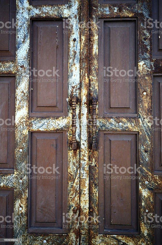 Old rusty door royalty-free stock photo