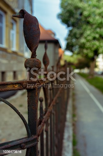old rusty grunge fence