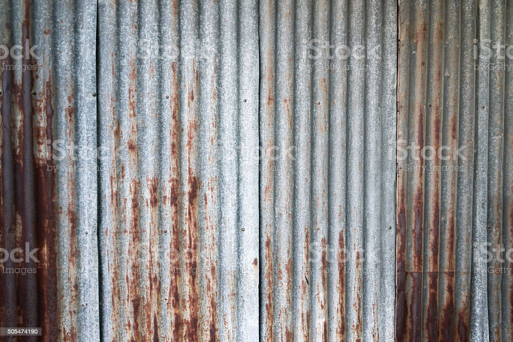 old rusty galvanized stock photo