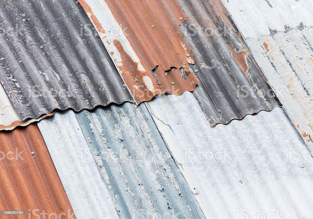 Old rusty galvanized royalty-free stock photo