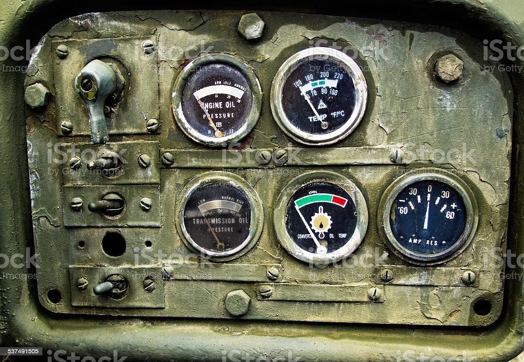 Old rusty gauges stock photo