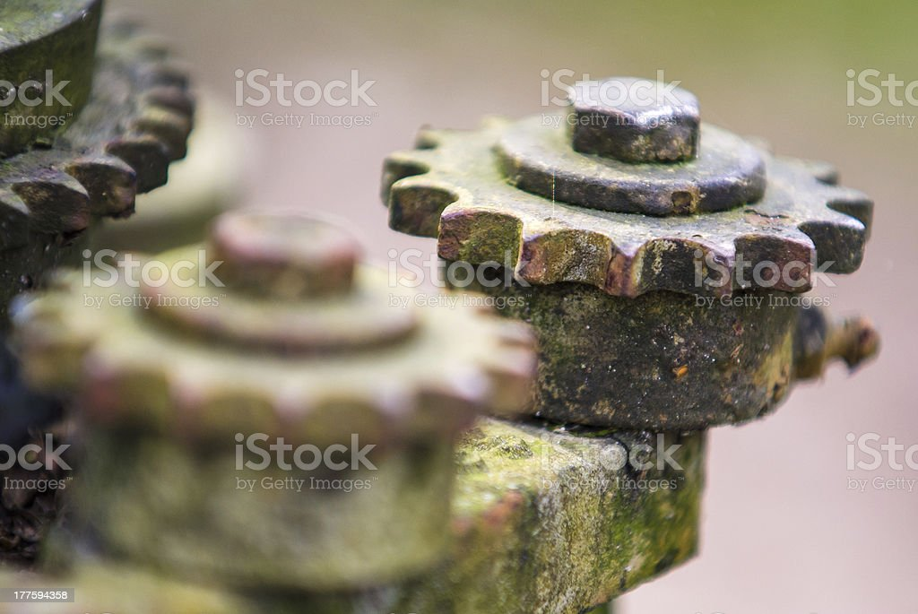 Old rusty gears royalty-free stock photo
