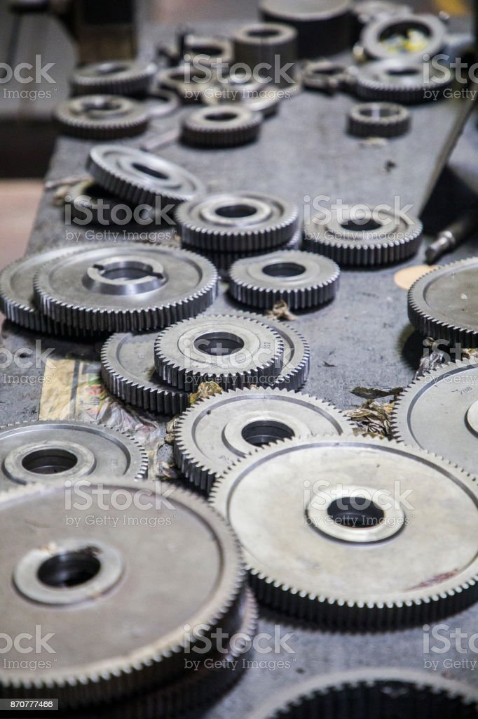 Old rusty gears stock photo