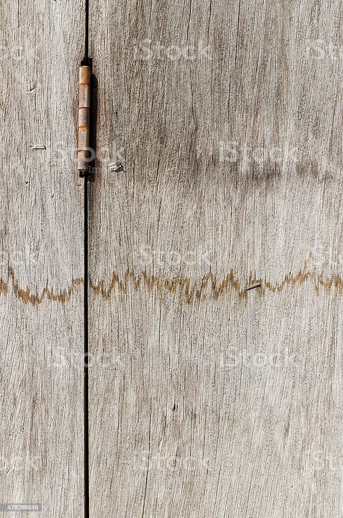 Old rusty hardwood door for background royalty-free stock photo