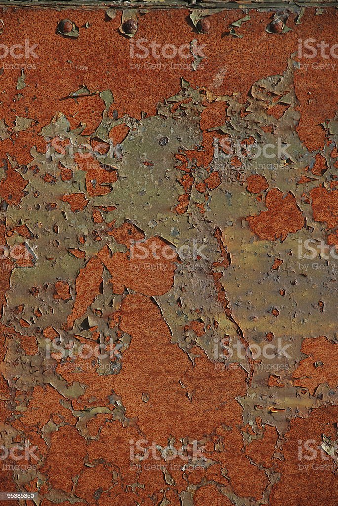 old rusty iron fence royalty-free stock photo