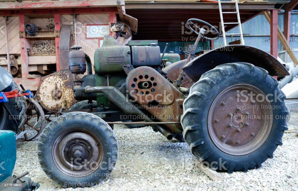 Old rusty Kaelble tractor royalty-free stock photo