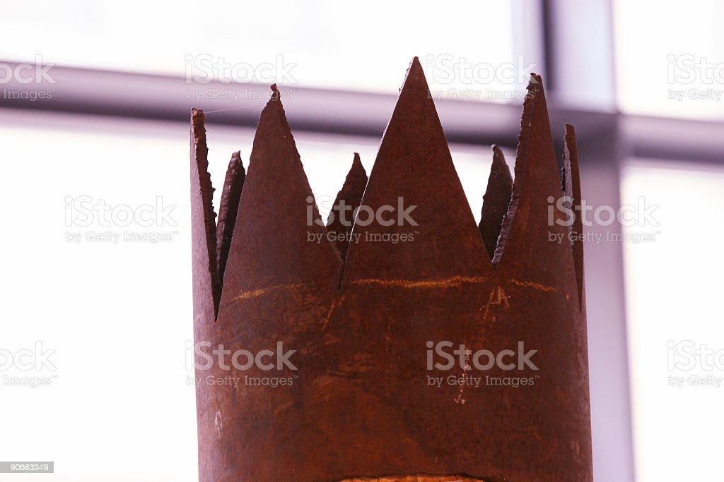 Old rusty kings crown royalty-free stock photo