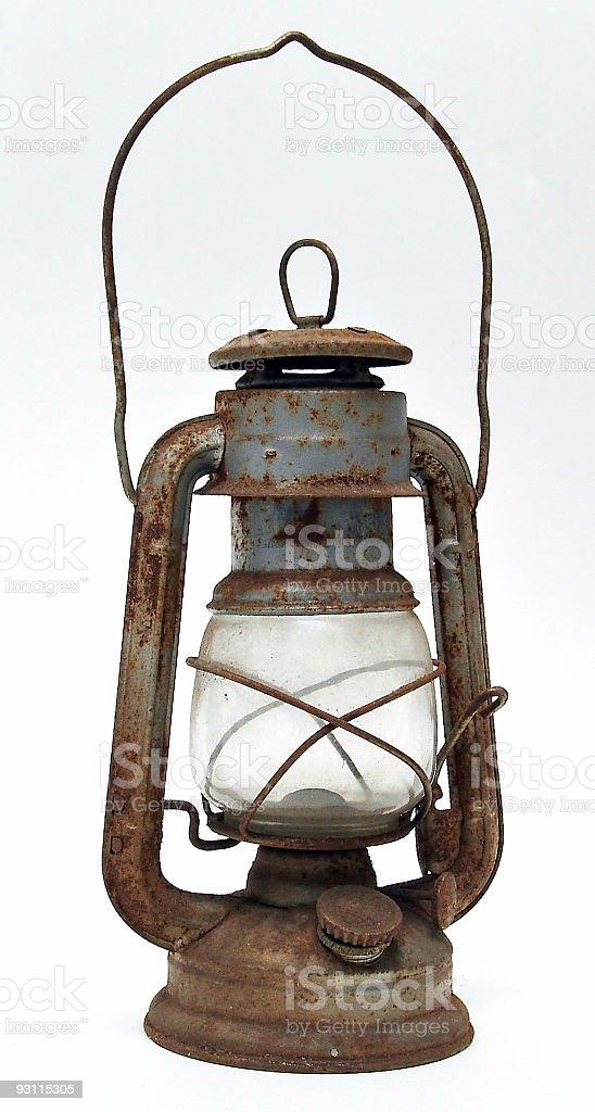 old rusty lantern stock photo
