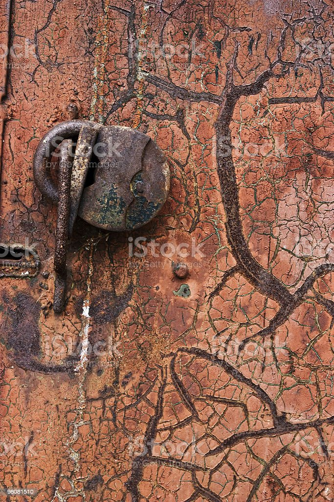 Old rusty lock royalty-free stock photo