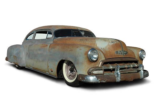 alte rostige lowrider-auto - alten muscle cars stock-fotos und bilder