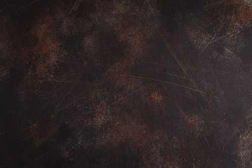 Old rusty background with scratches. Copy space for text.