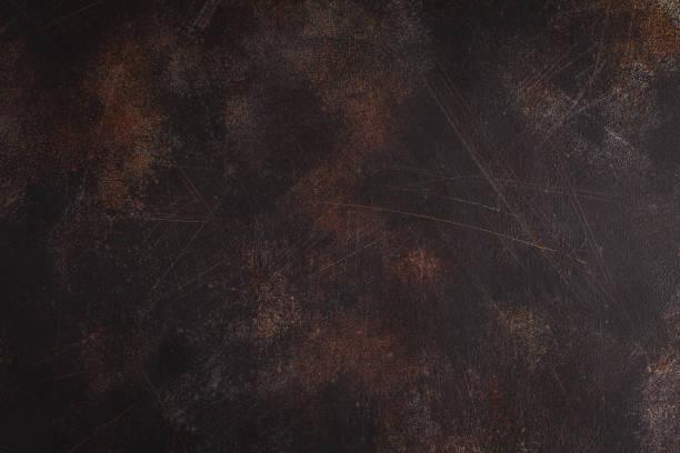 老生銹的金屬背景與劃痕。複製文本的空間。 - 銅色 個照片及圖片檔