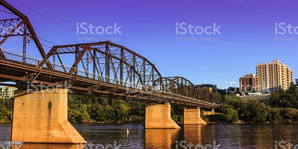 Old Rusty Metal Bridge royalty-free stock photo