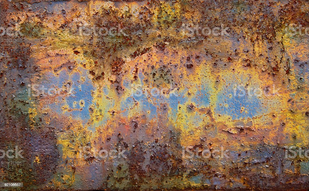 Old Rusty Painted Steel royalty-free stock photo