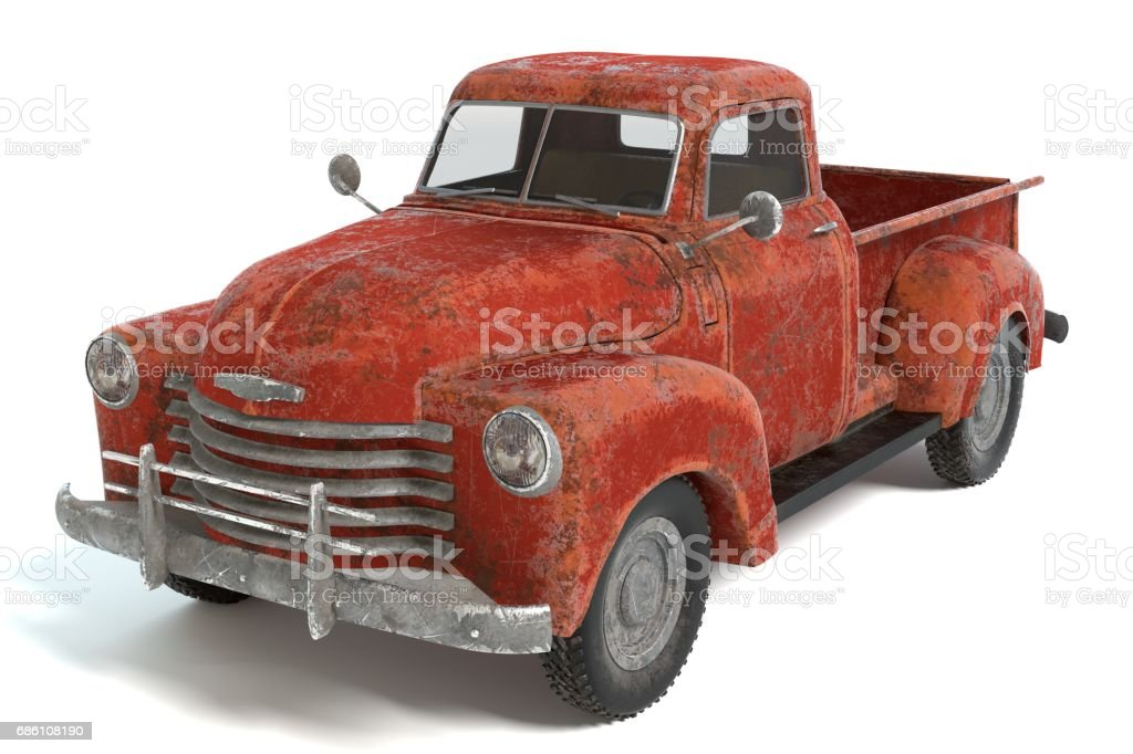 Old Rusty Pickup Truck stock photo