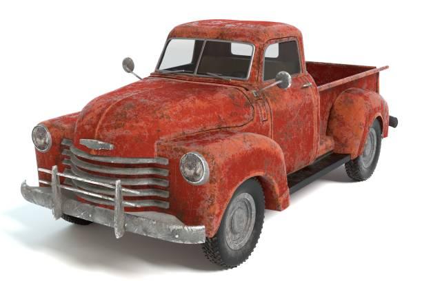 alte rostige pickup - alte wagen stock-fotos und bilder
