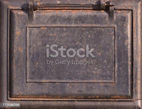 istock Old rusty plaque 172336259