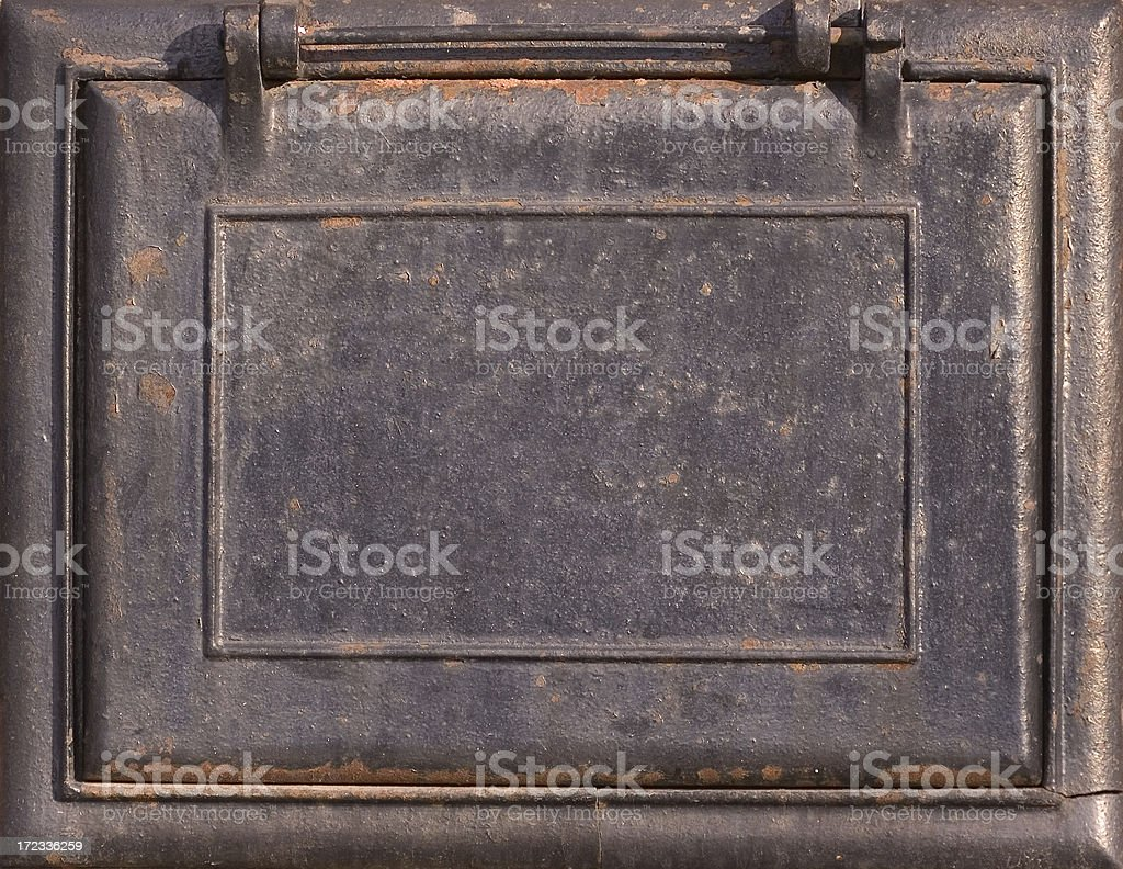 Old rusty plaque stock photo